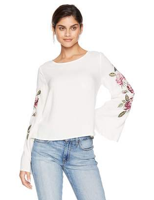 Cupcakes And Cashmere Women's Aldona Embriodered Bell Sleeve Top