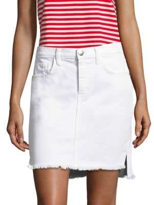 Current/Elliott High-Waist Denim Mini Skirt