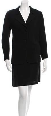 Calvin Klein Collection Wool Skirt Suit