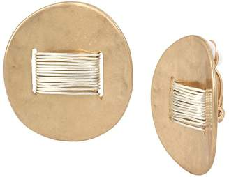 Robert Lee Morris Soho Two-Tone Wire Wrap Clip-On Earrings