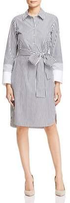 Lafayette 148 New York Fabiola Striped Shirt Dress