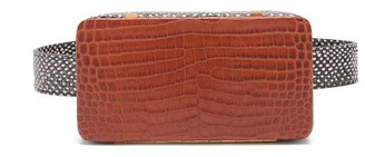 Lutz Morris - Evan Crocodile Effect Leather Belt Bag - Womens - Tan