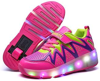 3.1 Phillip Lim Nsasy YCOMI LED Light up Roller Sneaker Single Wheel Double Wheel Wheel Shoes Roller Shoes (32 M EU/1 M US Little Kid, )