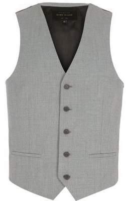 River Island Light grey single breasted vest