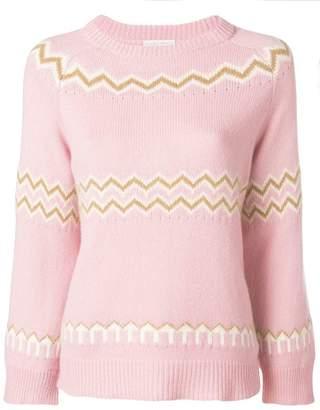 Asolo Borgo zigzag knit jumper