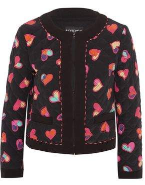 Moschino Quilted Printed Silk Crepe De Chine Bomber Jacket
