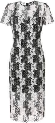 Diane von Furstenberg Short-sleeve tailored lace dress