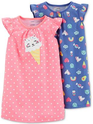 Carter's Toddler Girls 2-Pk. Printed Nightgown Set