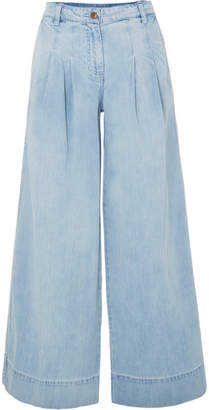 Ulla Johnson Emmit High-rise Wide-leg Jeans - Light denim