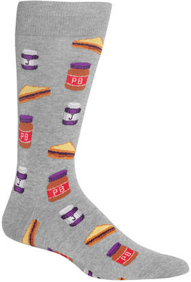 Hot Sox Men's Peanut Butter & Jelly Crew Socks