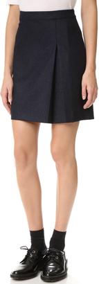 A.P.C. A-Line Skirt $250 thestylecure.com