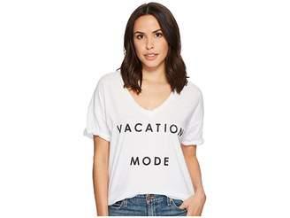 Original Retro Brand The Vacation Mode Short Sleeve Slub V-Neck Tee