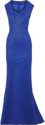 Zac Posen Fluted Pique Gown