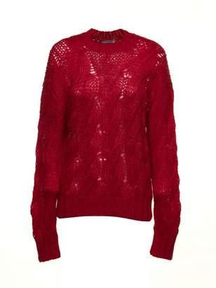 Prada Linea Rossa Cable Open Knit Sweater