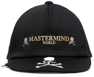 Mastermind Japan black embroidered skull and logo cap