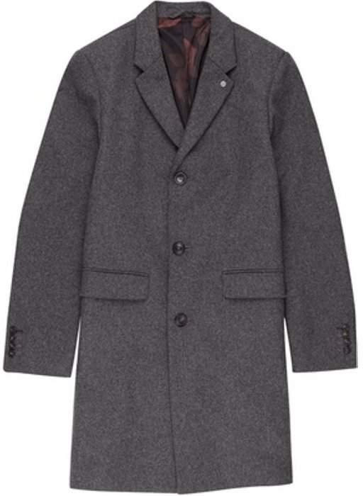 Womens **Burton Charcoal Wool Crombie Coat