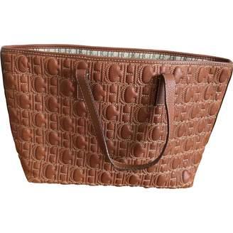Carolina Herrera Brown Leather Handbag