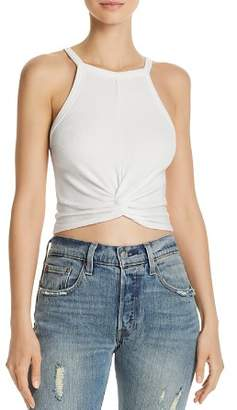 Aqua Twist-Front Cropped Tank - 100% Exclusive