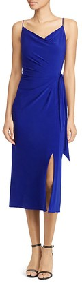 Lauren Ralph Lauren Faux Wrap Jersey Dress - 100% Exclusive $140 thestylecure.com