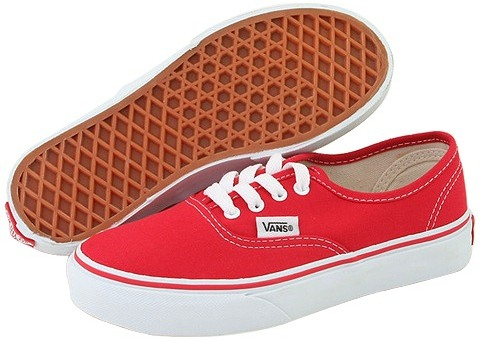 Vans Kids - Authentic Core (Toddler/Youth) (Red)