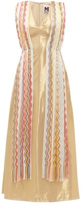 M Missoni Vintage Scarf Silk Blend Lame Maxi Dress - Womens - Yellow Multi