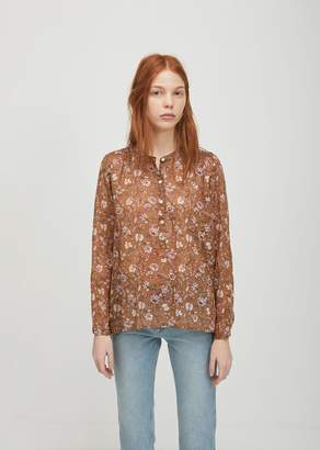 Etoile Isabel Marant Maria Embroidered Top Ochre