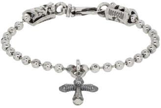 Emanuele Bicocchi Silver Cross Disco Chain Bracelet