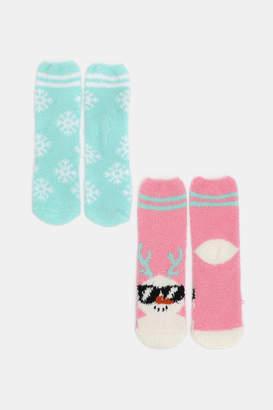 Ardene Pack of Festive Snowman Socks