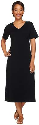 Denim & Co. Essentials Short Sleeve Midi Length Dress