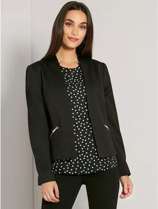 M&Co Zip pocket blazer