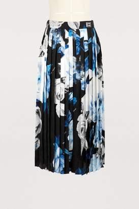 Off-White Off White Pleated silk skirt