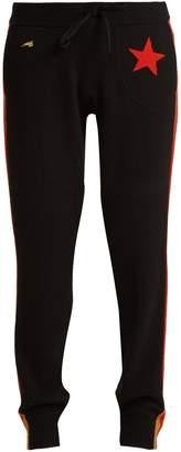 Billie intarsia-knit cashmere-blend track pants