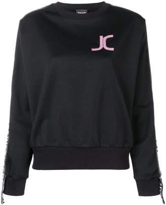 Just Cavalli logo patch sweatshirt