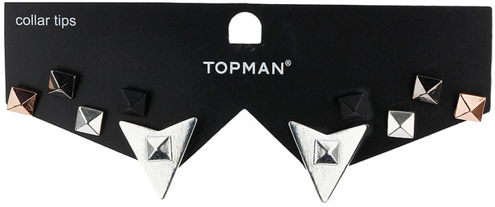 Topman Gold Centre Studs and Collar Tips