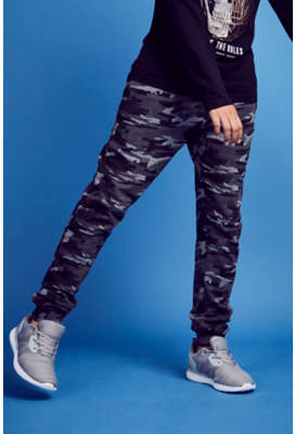 George Grey Camo Patterned Joggers