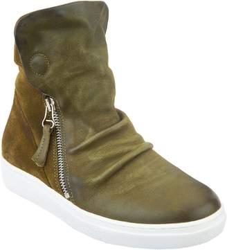 Miz Mooz High-Top Leather Zip-up Sneakers - Lavinia