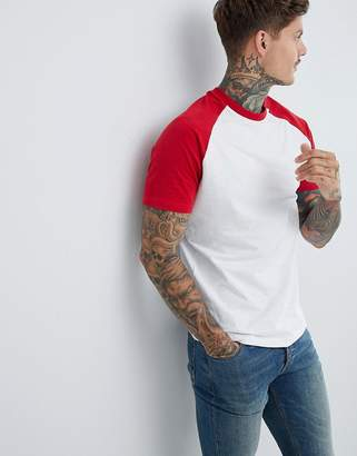 Pull&Bear Join Life Raglan In Red