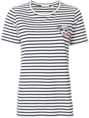 Parker Chinti & striped cartoon T-shirt