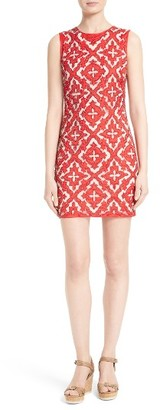 Women's Alice + Olivia Nat Embellished Embroidered Minidress $695 thestylecure.com