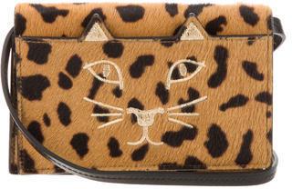 Charlotte OlympiaCharlotte Olympia Leopard Print Ponyhair Feline Purse