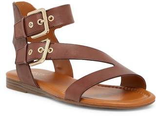 Franco Sarto Georgina Leather Buckle Strap Sandal