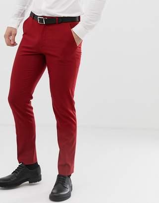 Asos Design DESIGN skinny suit pants in scarlet red
