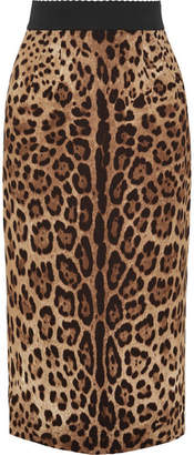 Dolce & Gabbana Leopard-print Crepe Midi Skirt - Leopard print