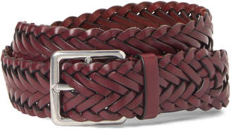Mulberry Braided Leather Boho Buckle Belt