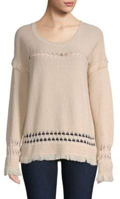 Feel The Piece Colin Diamond Weave Fringed Sweater