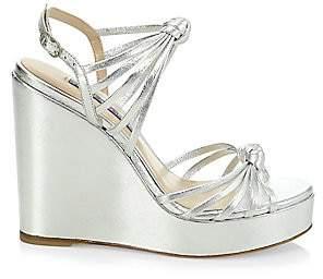 Stuart Weitzman Women's Saffron Metallic Wedge Sandals