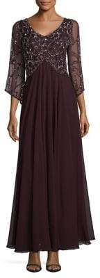 J Kara Embellished Empire Gown