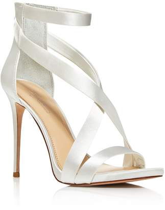 Vince Camuto Imagine Devin Satin High Heel Ankle Strap Sandals