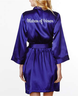 Wedding Prep Gals Embroidered 'Matron of Honor' Robe, Online Only