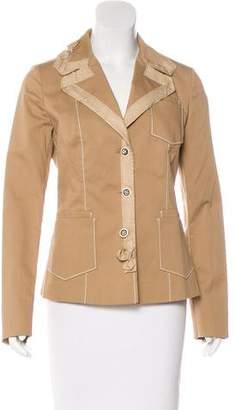 Prada Long Sleeve Button-Up Blazer